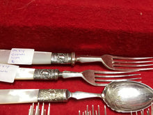 Load image into Gallery viewer, Flatware, 43 pcs, Made in England, SS and EPNS with Mother of Pearl
