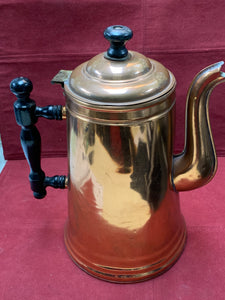 Went Worth/ Well Worth. Canada. Copper Coffee Pot, wooden handle and grip on lid.