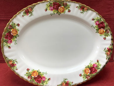 Royal Albert- Dinnerware, Old Country Roses- Oval Serving Platter.     HOLD for HV
