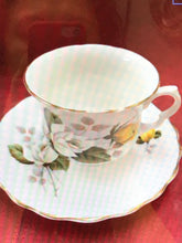 Load image into Gallery viewer, Hamilton, England. Cup and Saucer. Yellow and White Roses