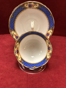 Court China, Cobalt with floral, 7818