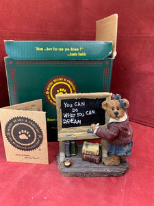 Boyds Bears and Friends. The Bearstone Collection. 11/E5707. It's Elementary