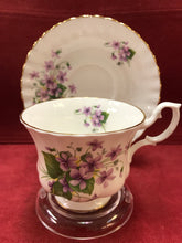 Load image into Gallery viewer, Royal Albert, England. Cup and Saucer. Purple Violets