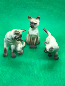 Japan. Siamese Cats- set of 3