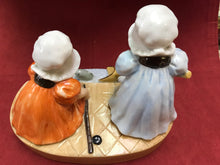Load image into Gallery viewer, Royal Bayreuth. Bavaria. Figurine. Sunbonnet Babies, Sunday Fishing