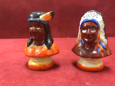 Japan. Collectible Salt and Pepper. Native American Theme