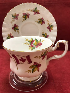 Royal Albert. England. Cup and Saucer. From Sea to Sea, Canada