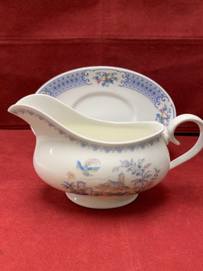 Royal Albert, New Romance- Songbird,  Gravy Boat with Under  Plate