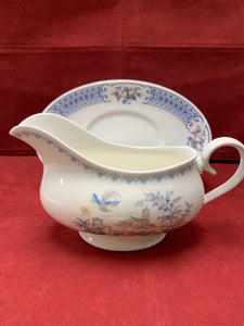 Royal Albert, England. New Romance- Songbird, Gravy Boat with Under Plate