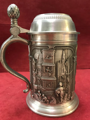 Barware, Germany, Zinn Becker, Pewter Tankard/Stein  with Lid
