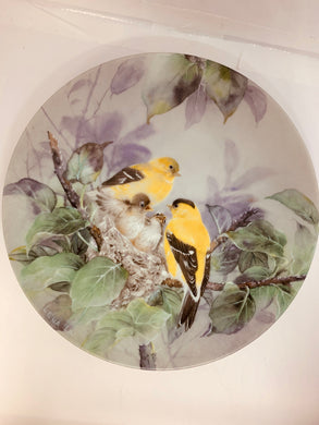 "Collector Plate- Lena Liu- .  Nature's Poetry Series-#9""   ""Lyrical Beginnings"""