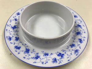 Breakfast Service,  Germany, Bayern, Bone China, Butter Dish, Blue and White