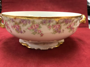 Limoges, Bridal Wreath, Covered Veg. Bowl