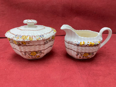 Copeland-Spode- England.  Buttercup.  Sugar bowl with Lid 2-5/8""