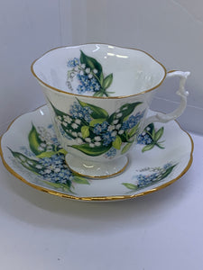 Royal Albert. England. Cup and Saucer. Lily of the Valley with Forget Me Nots.