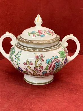 Coalport, Indian Tree, Multicoloured,  Covered Sugar Bowl.  Antique
