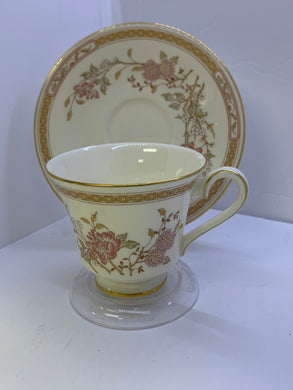 "Cup and Saucer.  Royal Doulton.  England. Pattern-""Lisette""."