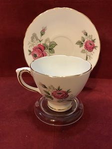 Delphine, England.  Cup and Saucer.   Roses