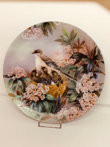 "Collector Plate- Lena Liu .  Nature's Poetry Series- #10.  ""Song of Spring"""