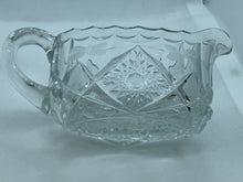 Load image into Gallery viewer, Pressed Glass, Creamer and Sugar, Vintage, Floral