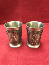 Load image into Gallery viewer, Barware, Germany, Zinn Becker, Pewter Shot Glasses-Set of Two