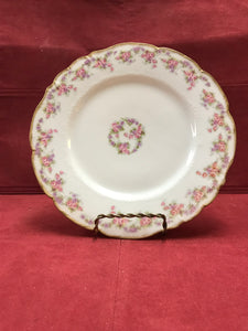 Limoges,  Bridal Wreath, Plate-8-3/4""