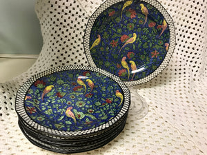 Royal Doulton, Persian Parrots, Plates D4031, Antique- luncheon/sandwich plate.   HOLD  for