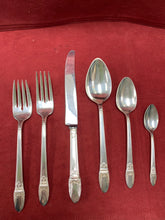 Load image into Gallery viewer, 1847 Rogers Bros. Plated, 1937 Flatware-  FIRST LOVE.  8- 6 piece place settings plus extras