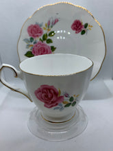Load image into Gallery viewer, Elizabethan. England. Cup and Saucer. Large Pink Roses