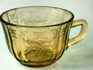 "Depression Glass, Federal Glass. Cup- (no saucer) Amber. ""Madrid"""