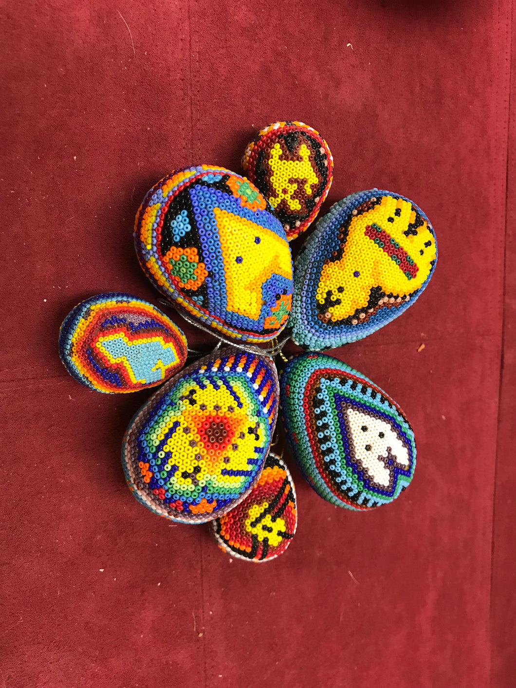 Beadwork, Eggs, Huichol, unsigned.    HOLD-