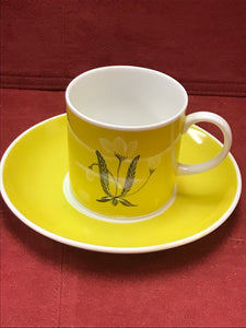Buttercup Yellow, Susie Cooper, Coffee cups, 2 sets