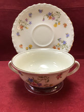 Load image into Gallery viewer, Myott. England. Dinnerware.  2 Handled Soup Bowl with under Plate.  Set of 4
