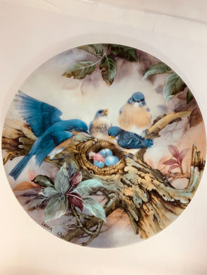 "Collector Plate- Lena Liu- .  Nature's Poetry Series- #2.  ""Song of Promise"""
