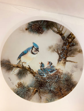 "Collector Plate- Lena Liu.  Nature's Poetry Series-  #6.  ""Morning Chorus"""