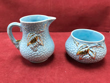 Load image into Gallery viewer, Wade, England, Creamer and Sugar, Golden Turquoise