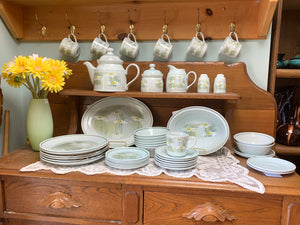 Royal Doulton, Lambethware, Daisyfield, Teapot, Creamer and Sugar