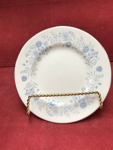 Wedgwood, Belle Fleur, Bread and Butter Plates, Blue and White