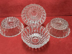Nappies, Pressed  Glass, Canada, Vintage. Set of 4