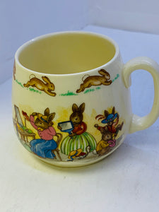 Royal Doulton. England. Bunnykins.  Mug.  At the Hat Shop.