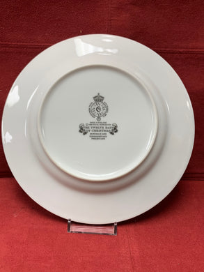 Royal Worcester, Luncheon/Salad Plates.  The 12 days of Christmas.  1966