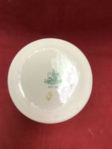 "Back StampBelleek, Ireland. Vase. Cream ware with Shamrocks. 5-1/2"" H.."