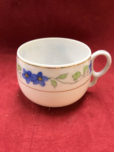 Japan, Cup and Saucer. Blue and White