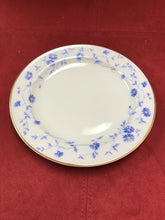 Load image into Gallery viewer, Front of Plate.  Bayern, Arzberg, Germany, Breakfast trio, Blue and White. (3pc)