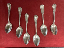 "Load image into Gallery viewer, Demitasse Spoons. International Sterling Co.. Sterling Silver. ""Unknown pattern "". Set of 6"