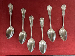 "Demitasse Spoons. International Sterling Co.. Sterling Silver. ""Unknown pattern "". Set of 6"