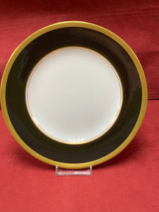 Coalport. England. Athlone-Brown & Gold. Luncheon/Salad Plate 8""