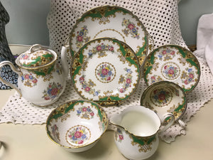 Tea Service, Shelley, Sheraton, Bone China, Service for 6
