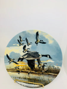 "Collector Plate-  Donald Pentz.  ""The Landing"".  Geese"