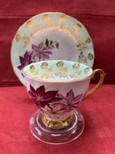 Load image into Gallery viewer, Windsor, England. Cup and Saucer. Large coloured Poinsettias